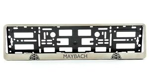 Metal Frame Steel Holder For European License Plate Stainless New Maybach