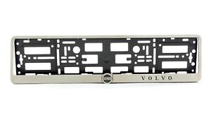 Metal Frame Steel Holder For European License Plate Stainless New Volvo