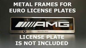 Metal Frame Steel Holder For European License Plate Stainless Mercedes Benz V 2