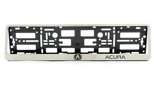 Metal Frame Steel Holder For European Euro License Plate Stainless New Acura