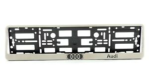 Metal Frame Steel Holder For European Euro License Plate Stainless New Audi