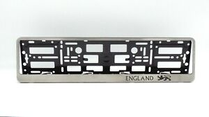 England Metal Frame Steel Holder For European Euro License Plate Stainless