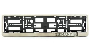 Germany German Metal Frame Steel Holder For Euro License Plate Stainless