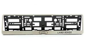 Metal Frame Steel Holder For European Euro License Plate Stainless Land Rover