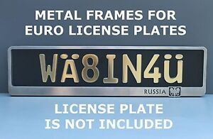 Russia Metal Frame Steel Holder For European Euro License Plate Stainless