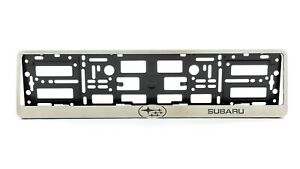 Metal Frame Steel Holder For European Euro License Plate Stainless New Subaru