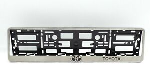 Metal Frame Steel Holder For European Euro License Plate Stainless New Toyota