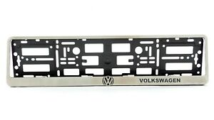 Metal Frame Steel Holder For European Euro License Plate Stainless Volkswagen Vw