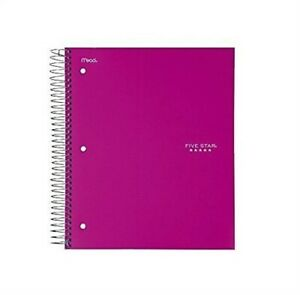 Five Star Notebook 5 Subject College Ruled 200 Sheet 1 Notebook Assorted Colors