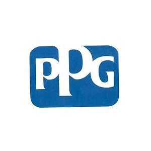 Ppg Refinish Stwbl03 Ppg Logo 6 X 6 Blue And White Decal Sticker