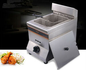 Commercial 1 Tank 1 Basket Stainless Steel Gas Deep Fryer Machine