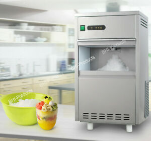 Chewable Ice Machine Maker 44lbs day Countertop Flake Snow Stainless Steel Home