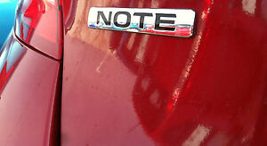 New Oem Nissan Versa Note Rear Emblem note In Chrome