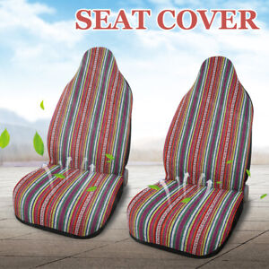 Set Of 2 Universal Baja Blanket Front Bucket Saddle Seat Cover For Car Suv