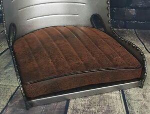 Rat Rod Bomber Seat Cushion Distressed Brown
