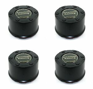 4x American Racing Atx Black Center Caps Snap In 3 07 Fits 35 36 37 38 Bolt