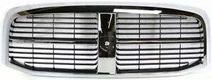 New Ch1200282 Chrome Shell Plastic Grille For Dodge Ram 1500 2500 3500 2006 2009