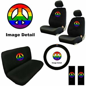 Rainbow Peace Sign Symbol Multicolor Logories Interior Combo Kit Gift Set C 24