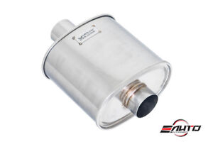Megan Universal No Tip Exhaust Stainless Muffler 3 Pipe 11x9 5 Canister