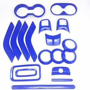 Car Interior Unlimited Parts Accessories Trim 18x Kit For Jeep Wrangler Jk Blue