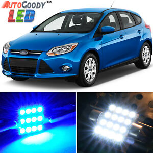 6 X Premium Blue Led Lights Interior Package For Ford Focus 2012 2014 Tool