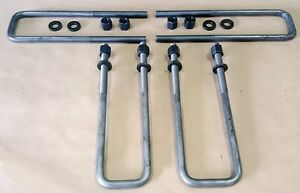 Sr Sierra Tundra Silverado 9 16 Square U Bolts 2 5 Wide Leaf Spring 12 Long