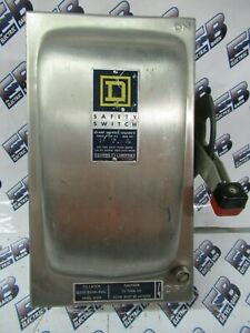 Square D H221nds Series A 30a 240v 1p3w Nema 4x Fusible Vintage Disconnect