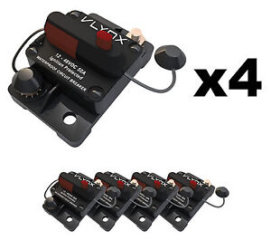 Qty4 Vcb50 Automotive 12v 48v 50 Amp Resettable Thermal Fuse Circuit Breaker
