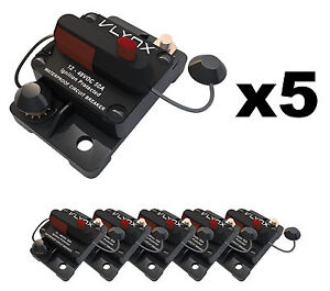 Qty5 Vlynx Vcb50 12v 24v Circuit Breaker 50a Dc Waterproof W Ignition Protection