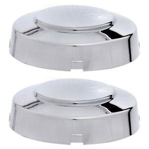 2pc Fits 1999 2004 Ford F350 Super Duty Dually Front 4x2 2wd Chrome Center Cap