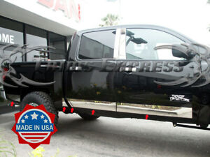 Fit 04 15 Nissan Titan Crew Cab Rocker Panel Trim Body Side Molding W Toolbox Nf