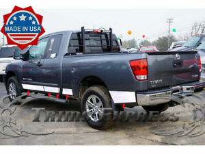 Fit 04 15 Nissan Titan King Cab Rocker Panel Trim Body Side Molding W Toolbox F