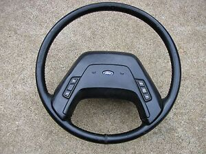 87 89 Ford Truck Factory Steering Wheel W Cruise