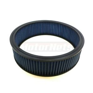 Blue 14 X4 Washable Reusable Hi Flow Air Filter Element Chevy Ford Mopar Rod