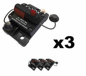 Qty3 Vcb60 Automotive 12v 48v 60 Amp Resettable Thermal Fuse Circuit Breaker