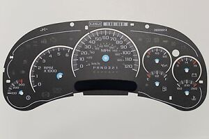06 Factory Oem Gmc Denali Stock Speedometer Dash Cluster Gauge Face Inlay Only
