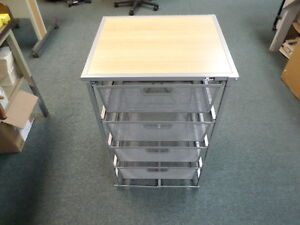 Origami Dfs 64 silver 4 drawer Storage Cart
