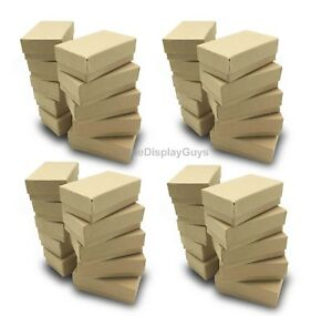 Us Seller 100 Pcs 2 5 8 x1 1 2 x1 Kraft Cotton Filled Jewelry Gift Boxes