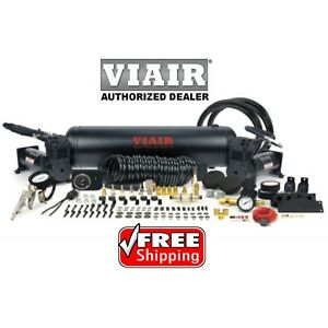 Viair Stealth Black 20020 Dual 444c Air Compressor 2 5g Tank On Board Air 200psi