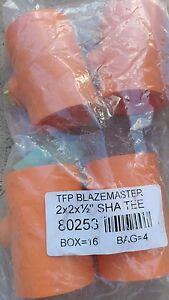 Lot Of 4 Tfp Blazemaster 2 x2 x1 2 sch80 Sha Tee Fire Sprinkler Pipe System
