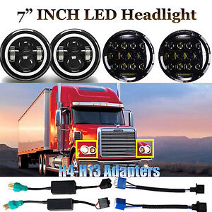 For Freightliner Century Pre 2005 Model Lights 7inch Led Projector Drl Headlight