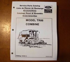 Brand New Ford New Holland Tr86 Combine Service Parts Catalog 5008612 1989