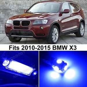20 X Premium Blue Led Lights Interior Package Upgrade For Bmw X3