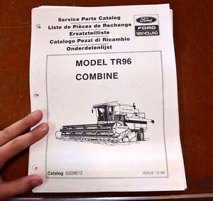 Ford New Holland Tr96 Combine Service Parts Catalog