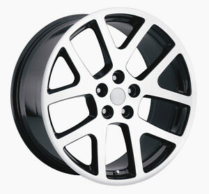 4 20 Awd Viper Machined Black Charger Magnum 300c Wheels Rims Set Dodge