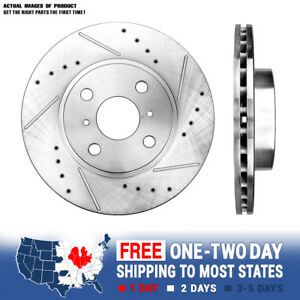Front Drill Brake Rotors For 1993 2001 2002 Chevy Prizm Toyota Corolla Prius