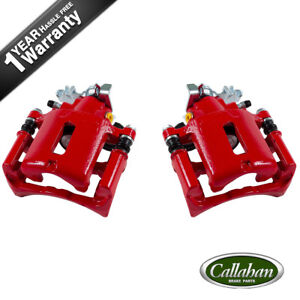 Rear Red Brake Disc Calipers Pair For 2005 2006 2007 2008 2009 2010 Ford Mustang