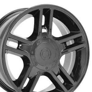 20x9 Wheels Fit Ford Trucks F150 Harley Rims Blk W1x Set