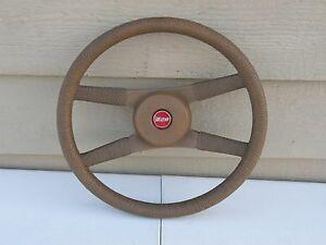 1970 81 Camaro Z28 Brown Rope Steering Wheel 4 spoke Gm Original Free Shipn 48