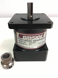 Bayside Precision Gearhead Ne42 050 50 1 Ratio With Pinion Gear And Spacer New